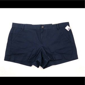 "NWT Gap Women/'s Khaki 5/"" City Shorts Navy Blue Sizes 00 0 MRSP $35 New Free Ship"